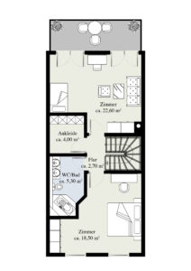 1. Obergeschoss (Massangaben können abweichen)