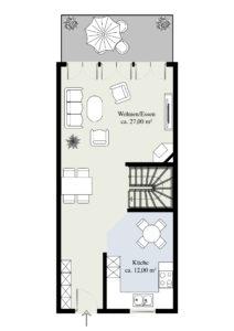 Erdgeschoss (Massangaben können abweichen)