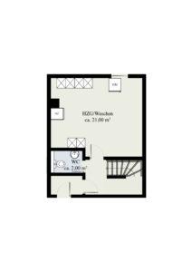 Kellergeschoss (Massangaben können abweichen)