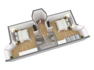 13161 Dachgeschoss 3D Seitenansicht