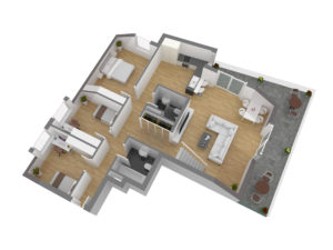 Lower Floor side view